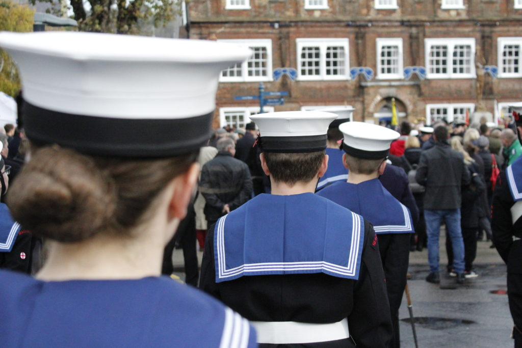 Dover & Deal Sea Cadets remembrance day.